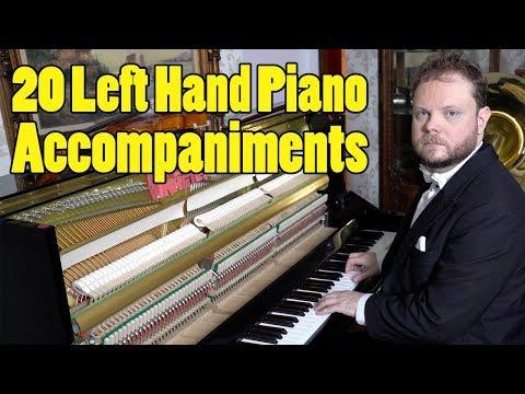 20 Left Hand Piano Accompaniments Ranked in Difficulty Vídeos de zueiras e brincadeiras: zuera, video clips, brincadeiras, pegadinhas, lançamentos, vídeos, sustos