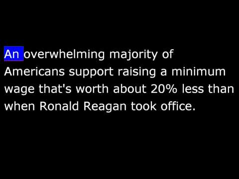President Obama February 15th, 2014 -  Weekly Address - Raise the Minimum Wage