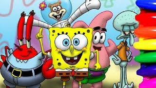 Spongebob Squarepants and Friends Coloring Book Page Fun for kids to learn Art
