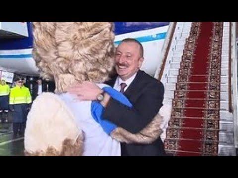 В Москву прилетела делегация из Азербайджана во главе с президентом страны - Россия 24