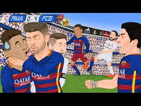 Parodia animada del Real Madrid 0 - 4 Barcelona 21/11/2015
