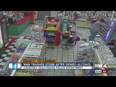 Denied alcohol, man trashes convenience store, attacks clerk in Florida