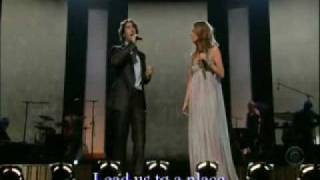 "Celine Dion & Josh Groban live ""The Prayer"" [with lyrics]"