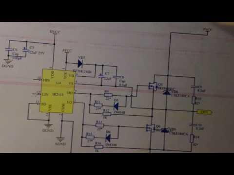 Схема и принцип работы полного моста с плавающей землёй на верхних ключах.