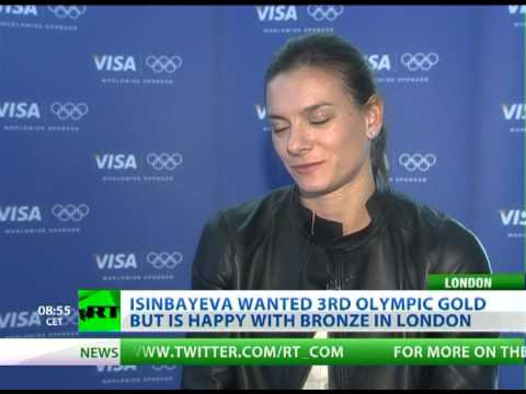 Isinbayeva eyes Rio Games after pole vault bronze in London