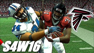 PICK 6 WITH A TRUCK STICK - MADDEN 07 PS2 FALCONS FRANCHISE VS LIONS - S4W16
