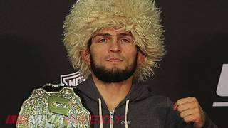 Khabib Nurmagomedov sidestepping the multiple weight class hype (UFC 242)