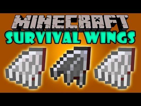 SURVIVAL WINGS MOD - Vuela en survival! - Minecraft mod 1.3.2 - 1.7.10 Review ESPAÑOL