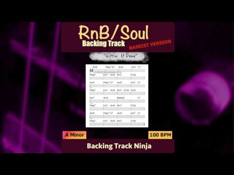 RnB/Soul Backing Track in A Minor | 100 bpm [BASSIST]