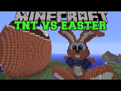 TNT VS EASTER BUNNY - Minecraft TNT Vs Maps - Epic Build Explosion
