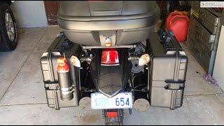 Kawasaki KLR 650 Build - Toolbox tubes and fire extinguisher