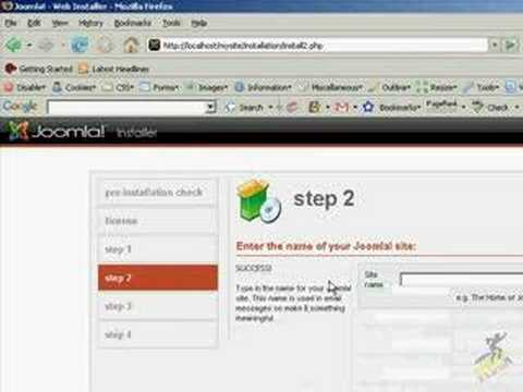 How to install and configure Joomla on a local machine