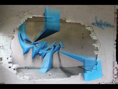 3d graffiti on paper