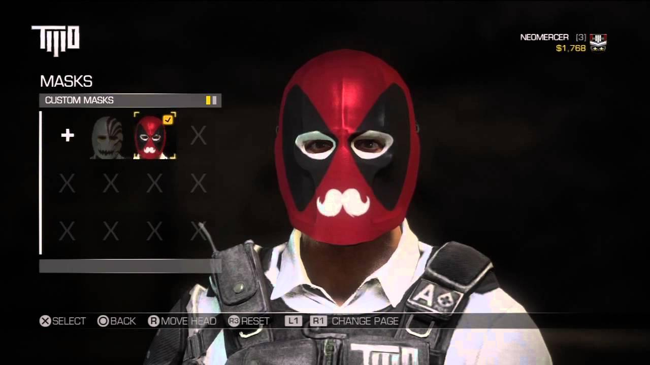 Army Of Two The Devil S Cartel My Custom Masks Deadpool