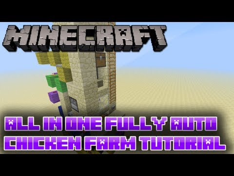 Minecraft: All In One Fully Auto Compact Chicken Farm V2 Tutorial [3 Wide!]