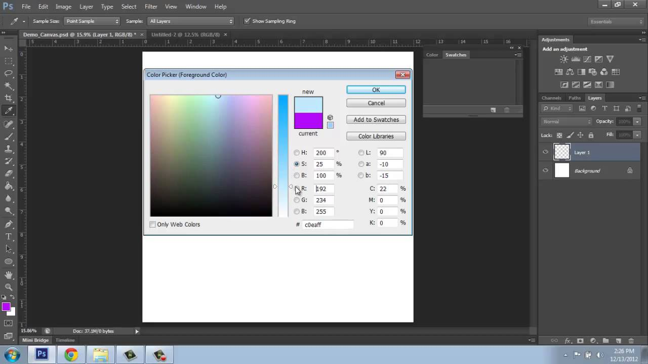 adobe photoshop cs6 basics - part 5 - color picker - brooke godfrey