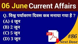 Next Dose #86 | 6 June 2018 Current Affairs | Daily Current Affairs | Current Affairs In Hindi