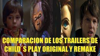 Comparacion de los Trailers de Chucky Child´s Play Original y Remake Similitudes en Escenas
