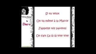 Duc-Z - African Mamy [Paroles - Lyrics]