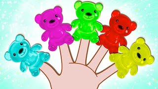 Gummy Bear Finger Family | Learn Colors with Surprise Eggs | Nursery Rhymes on HooplaKidz