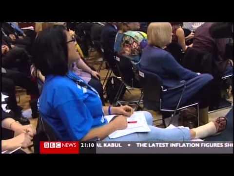 Labour Leader Ed Miliband heckled