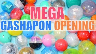 OPENING 40 GASHAPON TOY CAPSULES! [Cute & Weird Japanese Toys!]
