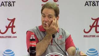 Nick Saban talks about intangibles after sixth spring practice