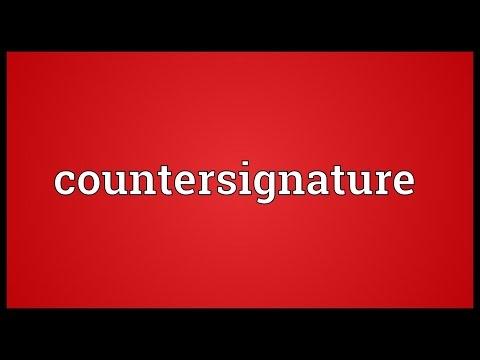 Header of countersignature