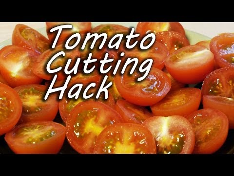 How to Cut Tomatoes Like a Ninja - Cooking Hack