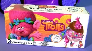 Trolls Egg Surprise 3-pack Surprise Box with Toys for Kids by FUNTOYS COLLECTOR