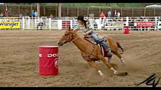 barrel racing cowgirls -  93rd Falkland Stampede 2011