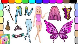 Play Barbie Dress Up | Barbie Is The Tooth Fairy | Learn Color Names | Learn Simple Clothes Names