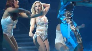 Britney Spears - Intro + Hold It Against Me (Live Femme Fatale Tour Boston) (Multiangle HD)