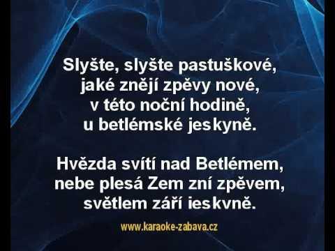 Karaoke Klip Slyšte Slyšte Pastuškové - Koleda