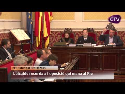 L'ALCALDE RECORDA A L'OPOSICIÓ QUI MANA AL PLE