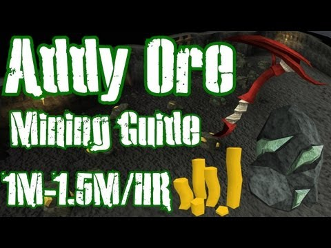 Runescape 3 – 1m-1.5m Per Hour Money Making Guide – Mining Adamantite Ores
