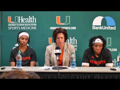 Coach Meier, Adrienne Motley & Keyona Hayes | Post Game Presser Florida State | 1.24.16