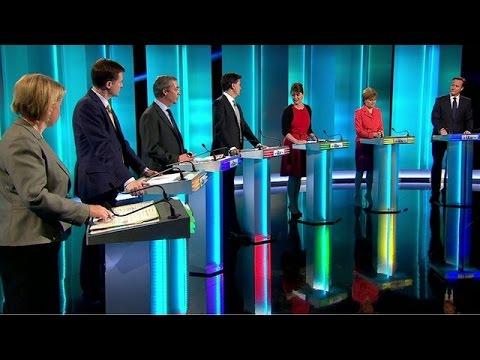 Election TV debate, Clash over Scots cash claim