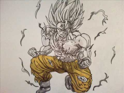 Dbz Goku Ssj Drawing Dbz Drawing Goku Ssj