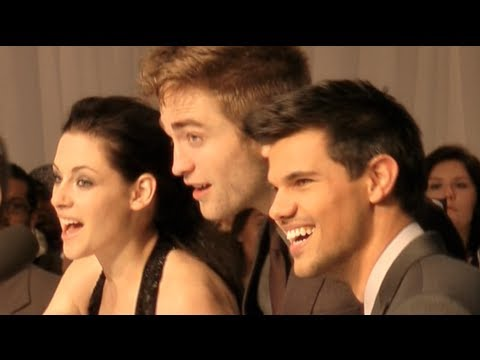 Breaking Dawn Premiere - Kristen Stewart, Robert Pattinson and Taylor Lautner in London