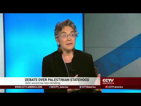 Phyllis Bennis from IPS talked about Palestinian-Israeli peace negotiations