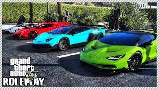 GTA 5 Roleplay - Cops 'SHUT DOWN' Lamborghini Car Meet!! | RedlineRP #585