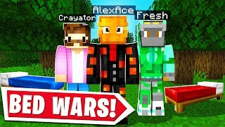 I Got CRAYATOR & FRESH To Play MINECRAFT BED WARS..