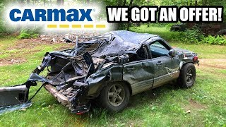 Took my TOTALED CAR TO CARMAX!