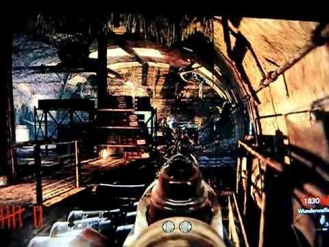 Call of Duty 5 Nazi Zombie Glitches - New Shi No Numa Stairs Barrier