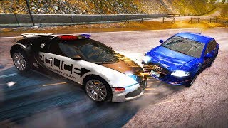 CRASHING A $1.5 MILLION BUGATTI POLICE CAR! INSANE POLICE CHASE! - Need For Speed Hot Pursuit