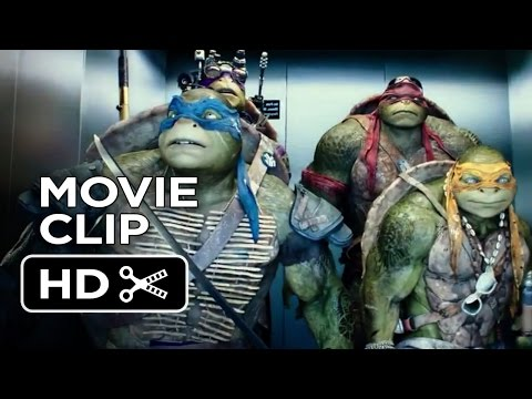 Teenage Mutant Ninja Turtles Official Movie CLIP - The Elevator (2014) - Ninja Turtle Movie HD