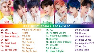 BTS Best Songs Playlist 2013-2020