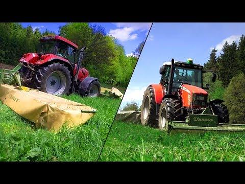 1. Schnitt 2017 - MÄHEN, WENDEN, SCHWADEN mit KRONE TECHNIK | Pfälzer Agrarvideos