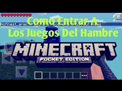 Como Entrar En Los Juegos Del Hambre Minecraft Pocket Edition 0.9.5